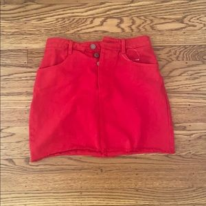 Cute bright red Brandy Melville skirt! ❤️